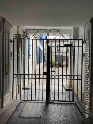 Grille Sas 71  Rue Du Commerce - Paris 15
