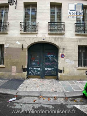 PORTE CHARRETIERE 33 RUE DES TOURNELLES PARIS 4 FACE EXTERIEURE