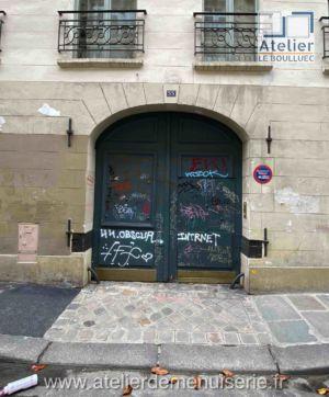 PORTE CHARRETIERE 33 RUE DES TOURNELLES PARIS 4 FACE INTERIEURE