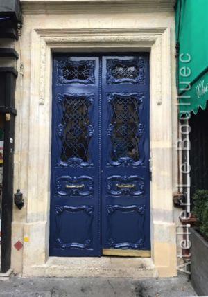 Porte Chêne Art Nouveau - 14 Bd Saint Germain - Paris 6