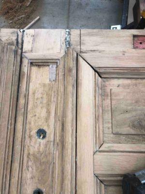 Porte Cochère 111 Rue De Longchamp - 10 : Détail Après Décapage 2