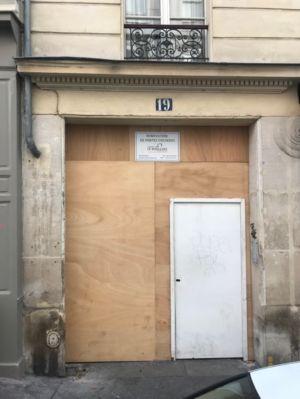 Porte Cochère 19 Rue Des Feuilantines Photo 3 - Porte Provisoire Posée Pendant La Restauration En Atelier