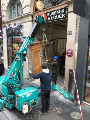 Porte Cochère Monumentale 68 Rue De La Chaussé D'Antin - 01 - En Dépose