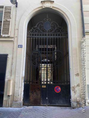 Porte Grille Acier 40 RUE DURANTIN PARIS 18