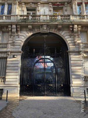 Porte Grille Acier Monumentale 9 RUE LA BOURDONNAIS PARIS 7