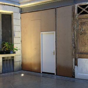Portes Garages 3 Av Foch Paris 16 -  03 Déposées Remplacées Par Panneaux Provisoires