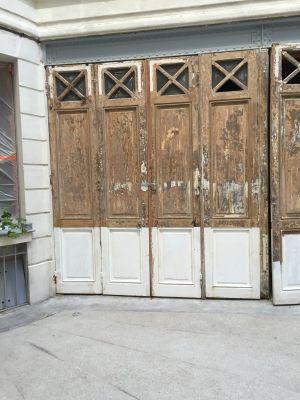 Portes Garages 3 Av Foch Paris 16 -  14 Traverse Basse  Neuve Avec Impression Blanche Posée